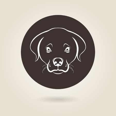 symbol of faithful pet dog Vector