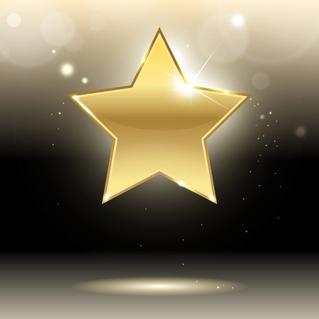 gold star on a dark background
