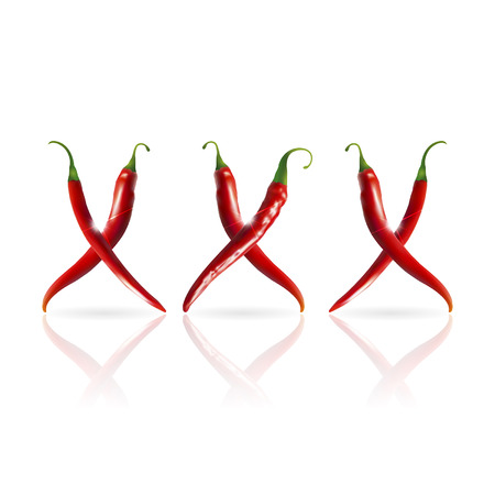 pornography: xxx symbol of red hot peppers Illustration