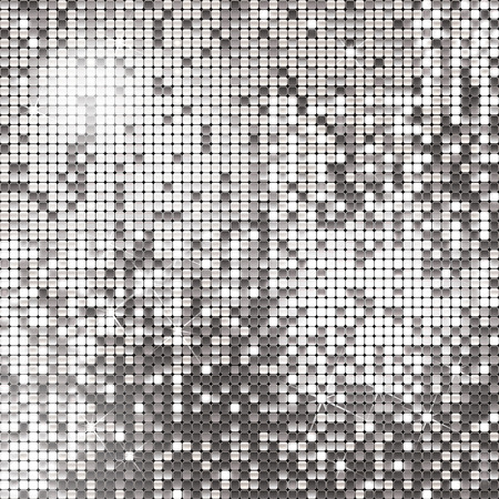 Silver background of sparkling sequins Illustration
