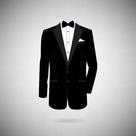 icon tuxedo on a light background Illustration
