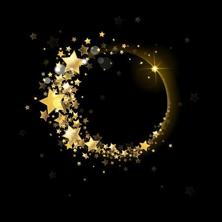 banner of  stars on a black background Zdjęcie Seryjne - 34084194