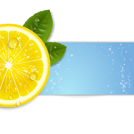 background fresh lemon with water