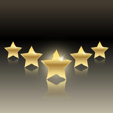 rewarding: rating of five stars on a dark background