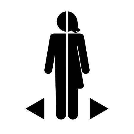 simbolo uomo donna: le differenze di genere icona su uno sfondo bianco