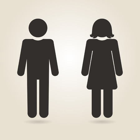 sexes: icon gender differences on a light background Illustration