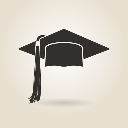graduate cap icon on a light background