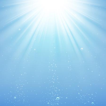 背景光線が水の下で