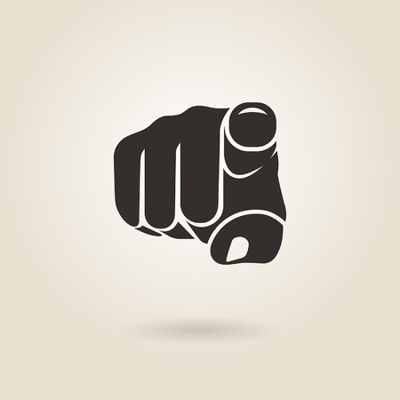 gesture pointing finger on a light background Vector