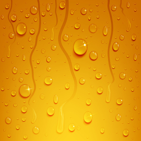 natural phenomenon: Water drops on the background of the beer