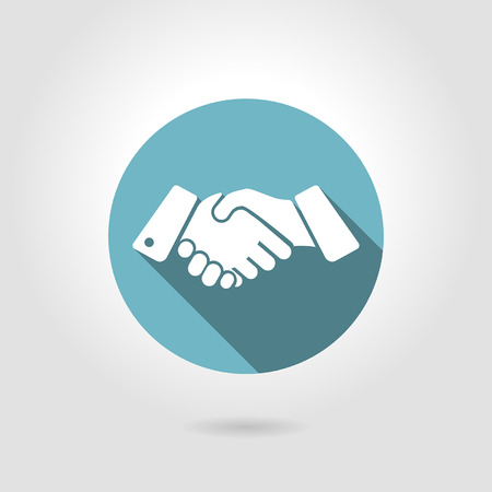 icon shaking hands on a light background Illustration