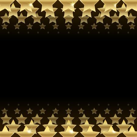 Fond noir avec des étoiles d'or Banque d'images - 40170426