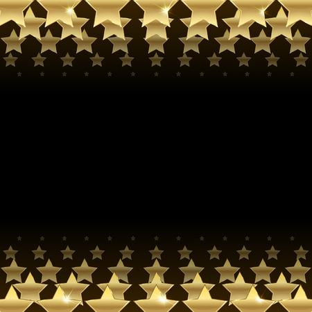 black background with gold stars