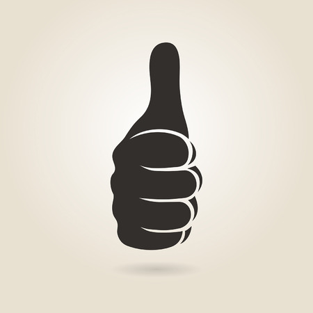 hand showing thumbs up: thumbs up icon on a light background
