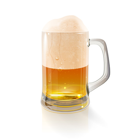 mug: beer mug on a white background