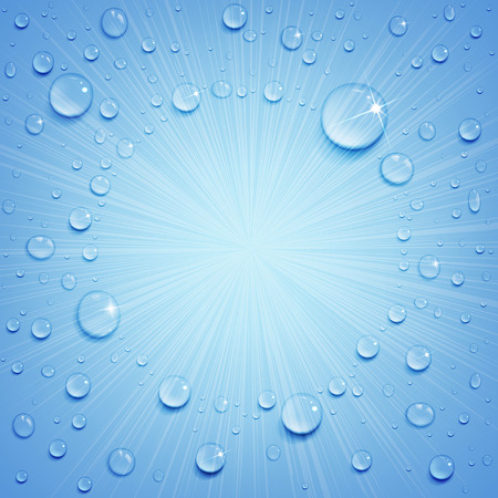 water drops on the ice surface Illustration