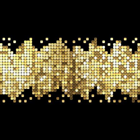 background of sparkling gold sequins Illustration