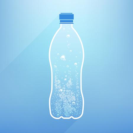 waterfles met bubbels