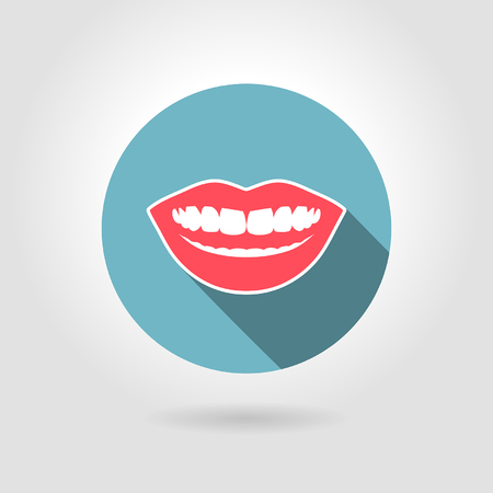 communicative: smile icon on a light background
