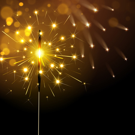 bengal light: sparkler on a dark background