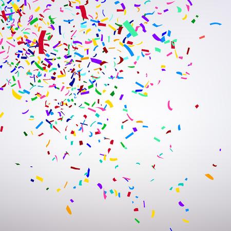 trumpery: varicolored confetti on a light background Illustration