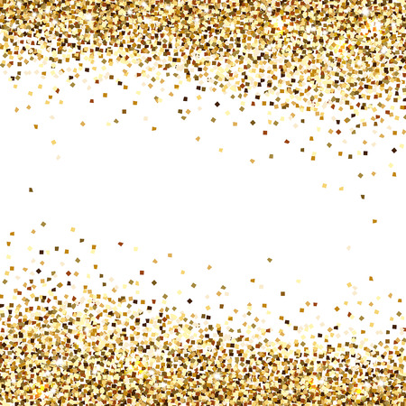 banner of gold sequins on a white background