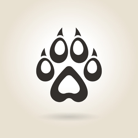 imprints: icon dog trail on a light background
