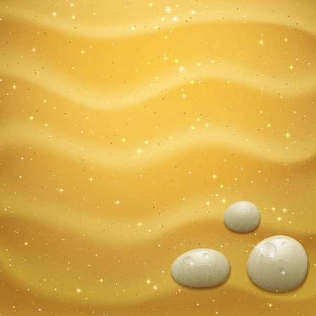 sand: shiny gold sand beach with sea pebbles