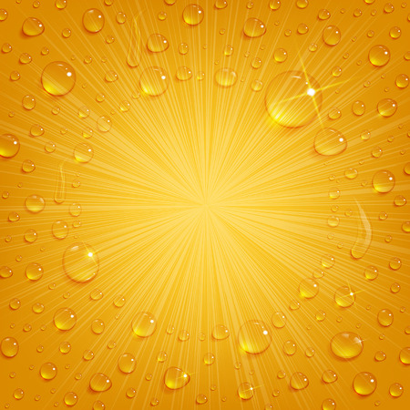 cooled: condensate drops on the background of cooled beer