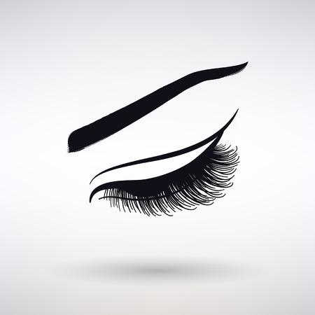 Icône femelle longue gueule sur fond clair Banque d'images - 75762688
