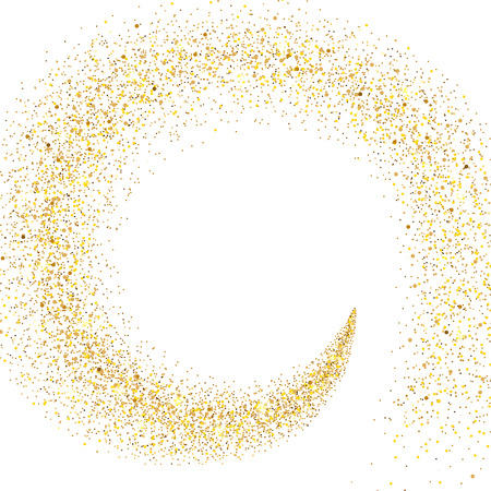 stream of golden particles on a white background 일러스트