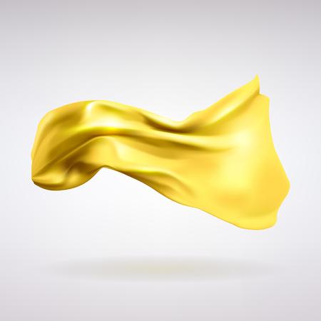 Gold satin fabric icon