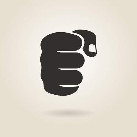 icon of a male fist on a light background