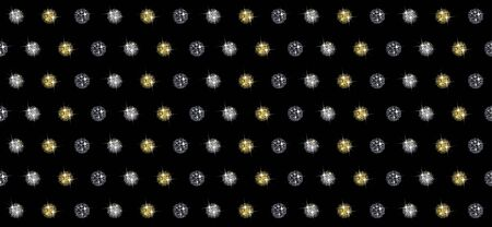 Seamless pattern with sequins on a black