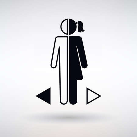 gender differences icon on a light background