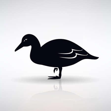 lame duck symbol on light background