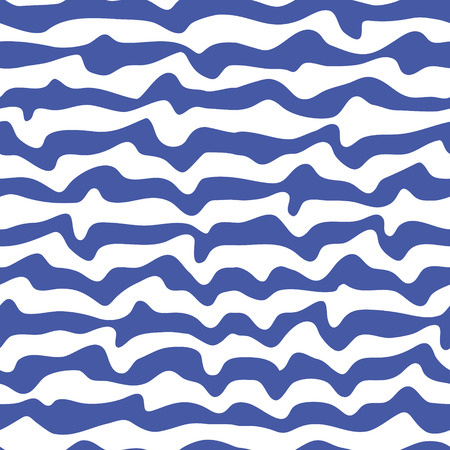 waved: Abstract striped waved seamless pattern.Vector illustration