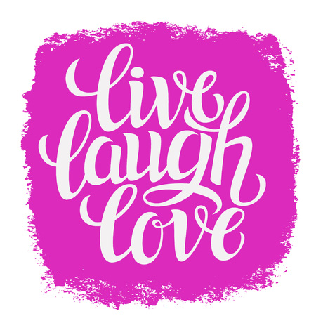 symbol decorative: Hand drawn typography poster.Inspirational quote live laugh love.For greeting cards, Valentine day, wedding, posters, prints or home decorations.Vector illustration