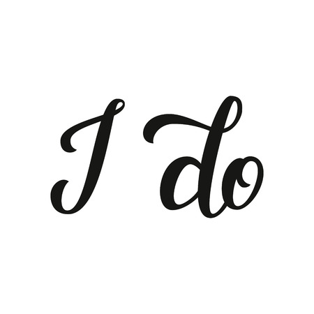 I do. Hand lettering typography text. For wedding decor, family or home design, posters, cards, invitations, banners, labels, t shirts, wooden signs. Иллюстрация