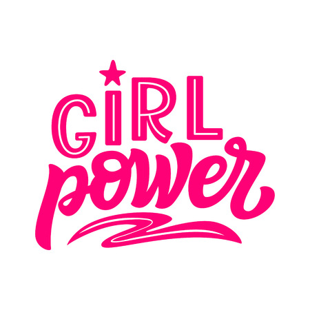 Girl power. Hand drawn trendy typography slogan. Vector text for posters, cards, t shirts, kids room decor