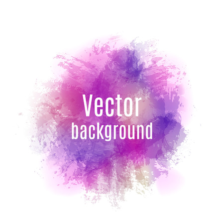 Abstract  background with paint stains, brush strokes and blots. Imitation of watercolor.Vector illustration