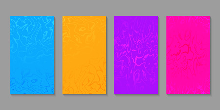 Set of abstract marbled templates. Colorful fluid background for posters, banners, flyers, phone covers, web, ads, wedding invitations, cards. Vector texture