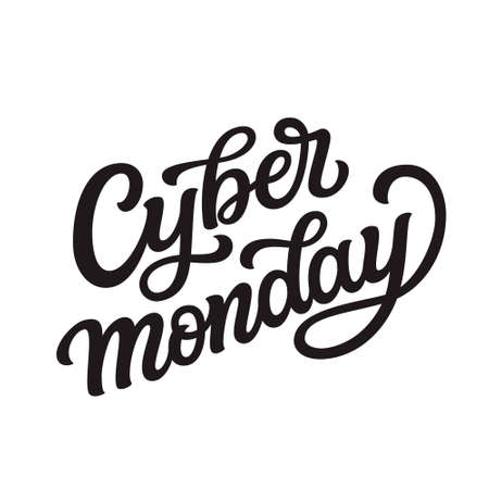 Cyber monday. Hand lettering text isolated on white background. Vector typography for posters, banners, greeting cards, t shirts, clothes