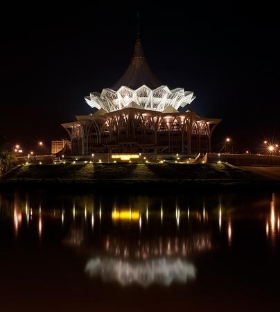 dun: The new Sarawak State Legislative Assembly Building (DUN), Kuching, Sarawak Stock Photo