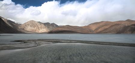 Pangong Lake in the Himalayas photo