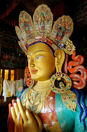 maitreya: Maitreya Buddha at Thiksey Stock Photo