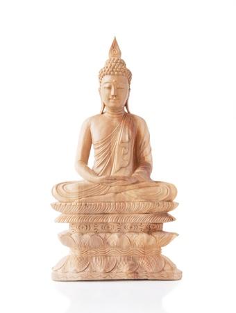 nirvana: Wooden Buddha Statue