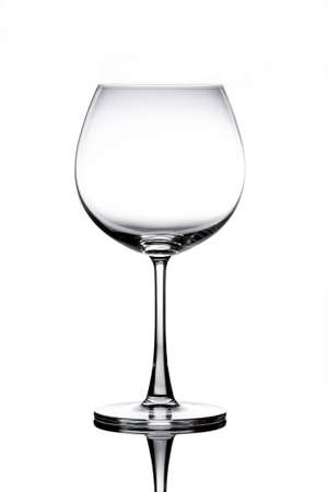 crystal glass: Empty Wine Glass isolated on white background