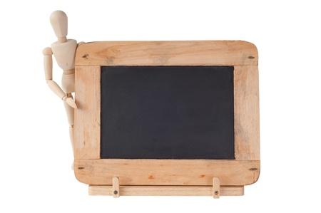 semester: Small Blackboard with Frame Stock Photo