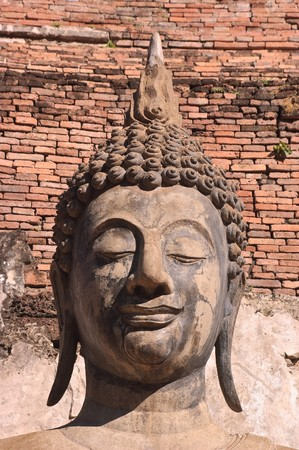 Buddha statue at Sukhothai Historical Park, Thailand. photo
